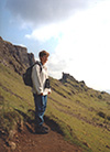 Thumbnail of Natalie hiking in the Quirang, Isle of Skye, Scotland